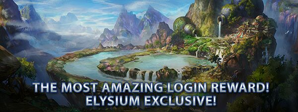 Elysium Launch Login Promo